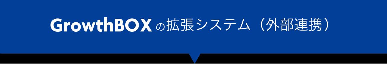 Growth BOXの拡張システム(外部連携オプション)